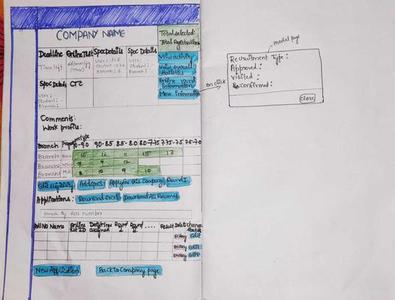 pen and paper prototype